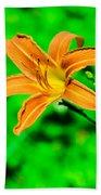 Orange Tiger Lily Beach Towel