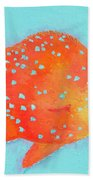 Orange Tropical Fish Beach Towel