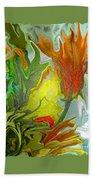 Orange Tulip Beach Towel