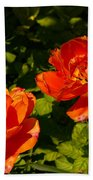 Orange Tulips In My Garden Beach Towel