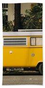 Orange Vw Bus Beach Towel