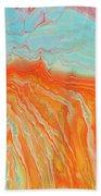 Tangerine Beach Beach Towel