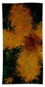 Orange-yellow Flower Beach Towel