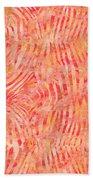 Orange Zebra Print Beach Towel