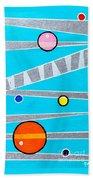Orbs On Planes Beach Towel