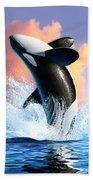 Orca 1 Beach Towel