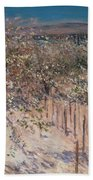 Orchard With Flowering Apple Trees Beach Towel