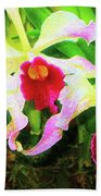 Orchid Flowers Color 1 Beach Towel