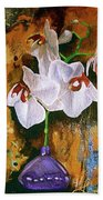 Orchid Ho Beach Towel