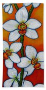 Orchid Oasis Beach Towel