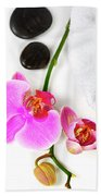 Orchid Spa Composition Beach Towel