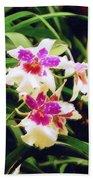 Orchids 1 Beach Towel