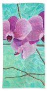 Orchids In Pink Beach Towel
