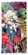 Orchids In White Beach Towel