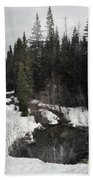 Oregon Cascade Range River Beach Towel