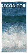 Oregon Coast Flying Seagull Beach Towel