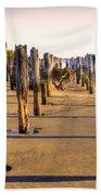 Oregon Coast Pilings Beach Towel