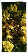 Oregon Grape Flowers Beach Towel