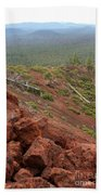 Oregon Landscape - Red Rocks At Lava Butte Beach Towel