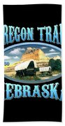Oregon Trail Nebraska History Design Beach Towel