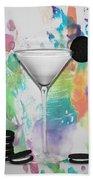 Oreo Happy Hour Watercolor Bg Beach Towel