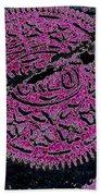 Oreo In Pink Beach Towel by Nancy Mueller