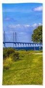 Oresund Bridge With Cabanas Beach Towel