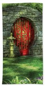 Orient - Door - The Moon Gate Beach Towel