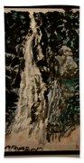 Oriental Falls Beach Towel