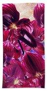 Oriental Orchid Garden Beach Towel