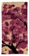 Oriental Plum Blossom Beach Towel