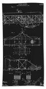 Original 1906 Wright Brothers Full Patent Beach Towel