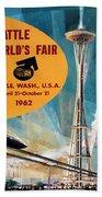 Original 1962 Seattle Worlds Fair Promotion Beach Towel
