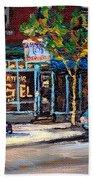 Original Art For Sale Montreal Petits Formats A Vendre Boulangerie St.viateur Bagel Paintings  Beach Towel