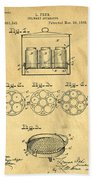 Original Patent For Canning Jars Beach Sheet