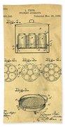 Original Patent For Canning Jars Beach Towel