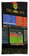 Orioles Game At Camden Yards Beach Towel