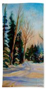 Ormstown Quebec Winter Road Beach Towel