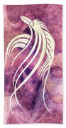 Ornamental Abstract Bird Minimalism Beach Towel