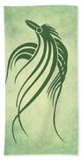 Ornamental Parrot Minimalism Beach Towel