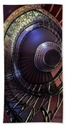 Ornamented Metal Spiral Staircase Beach Towel