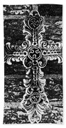 Ornate Cross 3 Bw Beach Towel