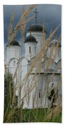 Orthodox Church In Mikulino Beach Towel