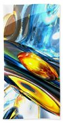 Oscillating Color Abstract Beach Towel