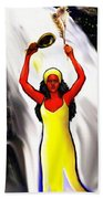 Oshun -goddess Of Love -4 Beach Towel by Carmen Cordova