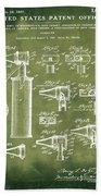 Otoscope Patent 1927 Grunge Beach Towel