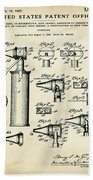 Otoscope Patent 1927 Old Style Beach Towel