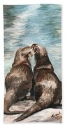 Otter Buddies Beach Towel