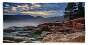 Otter Cove In The Mist Beach Towel