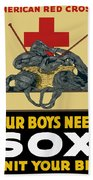 Our Boys Need Sox - Knit Your Bit Beach Towel